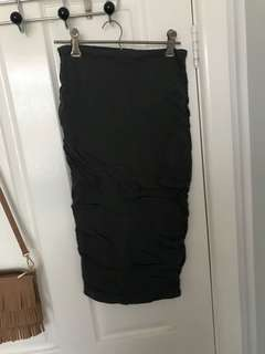 Dark grey midi skirt