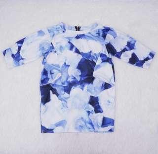 no nego! Blouse Abstrak Blue