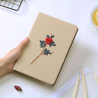 iPad 2018 (6th Generation第六代) case with embroidered rose 刺繡玫瑰
