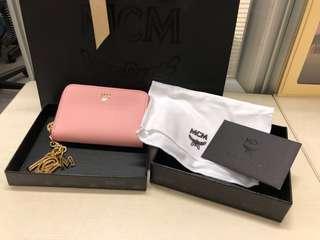 MCM 粉紅色卡包