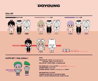 [GO] NCT Doyoung doll (Bunny Senior) by @yydy21