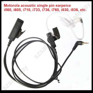 🚚 Last piece, Motorola GRID MTH650 MTH800 i860 / 305/315/325 i560, i605, i710, i733, i736, i760, i830, i836, i850, i860, i920, i930 walkie-talkie covert anti-noise acoustic earpiece headphones