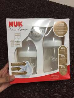 NUK - Nature Sense Feeding Bottle Set
