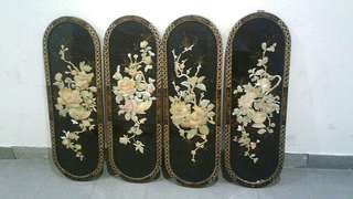 Chinese Peony Wood Carving Wall Decoration Panals(Incl delivery)