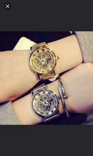 (2隻/2pieces) 設計師鏤空手錶 (有色) (包Buyup自取) (watch)