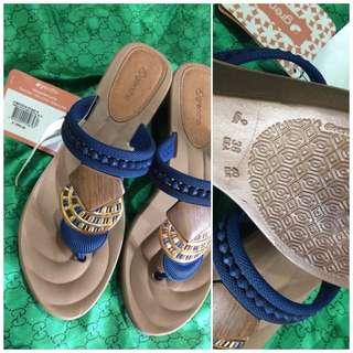 grendha royal blue wedge sandals