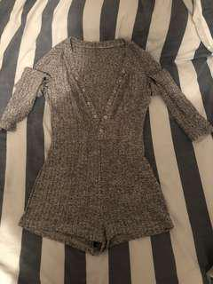 Grey one piece/play suit