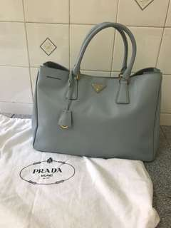 AUTHENTIC USED Prada Saffiano BN1844 in Blue Lago