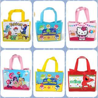 1for$1.20 12for$14 Hello Kitty My Little Pony Baby Shark Pinkfong Pokemon Go Pikachu Elmo Sesame Street Goodie Bag for Birthday or full month party celebration