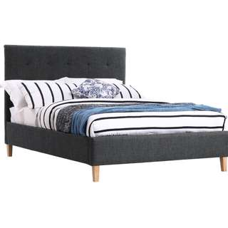 Linea Fabric Double Bed
