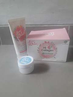 Ever white collagen drinks, body lotion , axillary cream