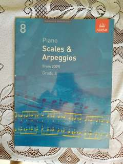 ABRSM Piano Scales and Arpeggios (from 2009) Grade 8