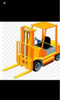 Forklift, Lorry, Refrigerator Truck and warehouse storage!
