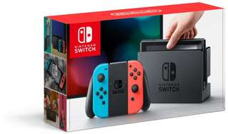 Nintendo Switch Neon Red/Neon Blue 2 Games Bundle