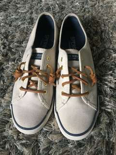 Sperry Seacoast Ivory for women. Used once