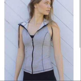 Grey blockout vest cotton