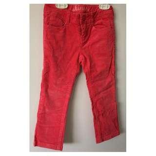 GYMBOREE red skinny Corduroy Pants