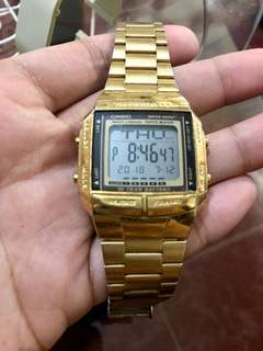 Casio BD-360G-9ADF Gold Stainless Strap Unisex Watch