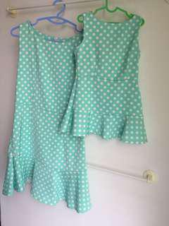 Mommy Daugther Uniform Dress