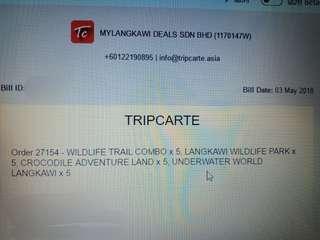 UnderWater World Langkawi e-ticket x5