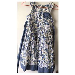 Girl's Blue Floral Dress