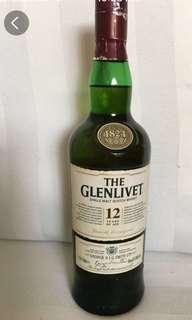 Glenlivet 12 Single Malt Scotch Whisky 70cl
