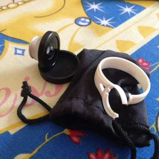 Fish eye clip lense