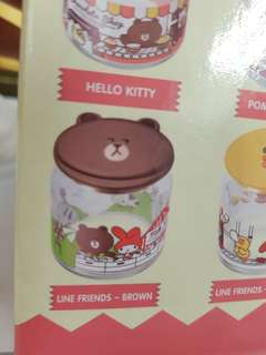Line friend & Sanrio Glass container collection