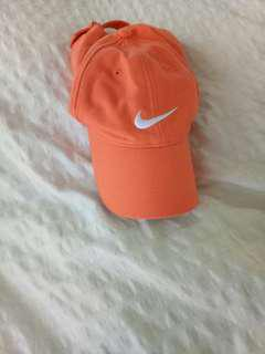 NIKE cap. Orange.  Never worn