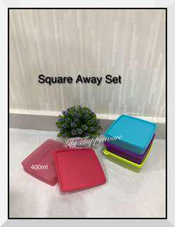 Tupperware Square Away Set (4pcs) 400ml