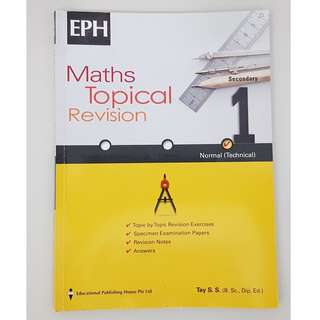 Maths Topical Revision Secondary 1 Normal (Technical)