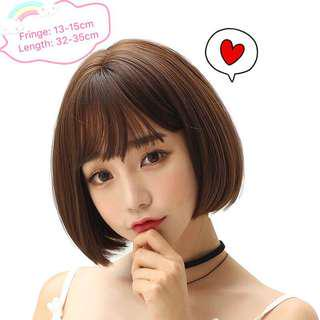 [Pre-order] High quality short hair wig with fringe | two colours, bob style hair loss hair fall