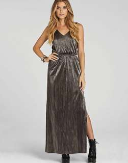BCBG (BCBGeneration) Metallic Maxi Double-Slit, Low-Back Dress (PRICE REDUCED TO P2000!)