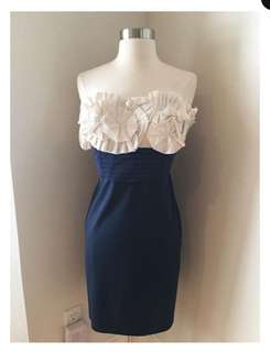 BCBG MAXAZRIA Tafetta Rosette Dress (PRICE REDUCED TO P3500!)