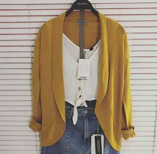 OUTER CARDI PULL&BEAR (Mustard)