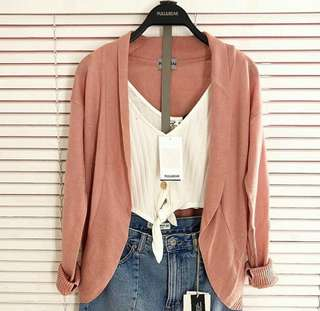 OUTER CARDI PULL&BEAR (Dusty Pink)
