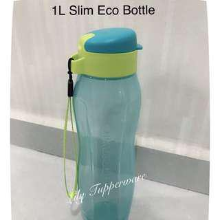 Tupperware 1L Slim Eco Bottle (Green)