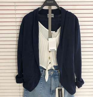 OUTER CARDI PULL&BEAR (Navy)
