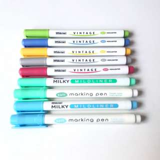 Inspired Mildliner Highlighters