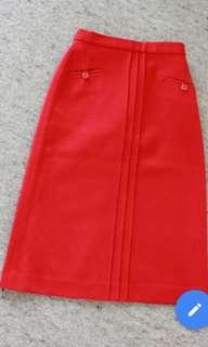 Highwasted Red skirt