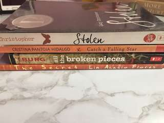 4 books for the price of one! BOOKS [ stolen, catch a falling star, all the broken pieces, & the secret ]