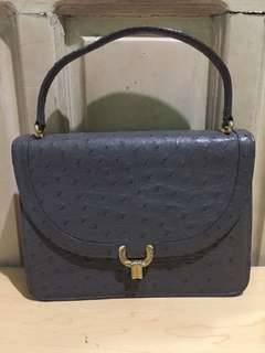 Comtesse Ostrich Leather hand bag