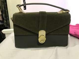 Zara Kahki Bag