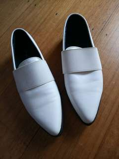 White MARCUS B flats 38 worn once