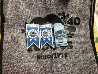 🚚 ROOTS 國慶款別針 週年款環保購物袋 提袋