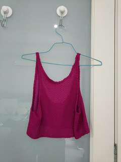Pink party singlet top