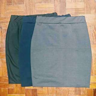 Office Skirt (Black and Navy Blue Available) - Shipping from Bicol
