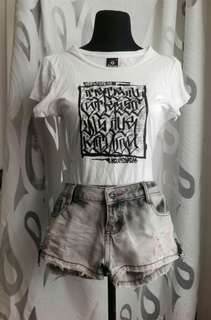 tribal top and shorts