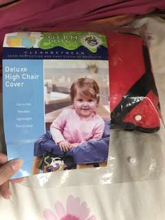 High chair cover(red)
