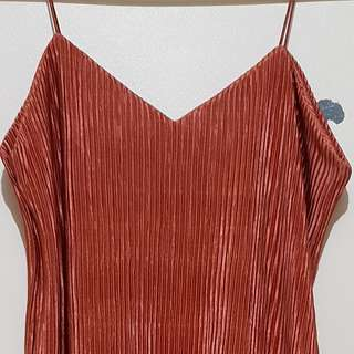 Pleated Camisole (Rust)